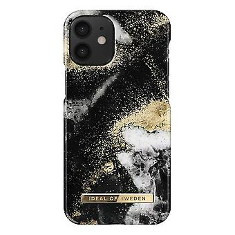 iDeal Of Sweden iPhone 12 Mini Shell - Black Galaxy Marble