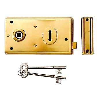 Yale Locks P401 Rim Lock Polished Brass Finish 138 x 76mm Visi YALP401PB