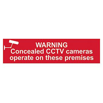 Scan Warning Concealed CCTV Cameras Operate On These Premises Sign PVC 200x50mm