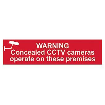 Scan Avertissement Caméras CCTV dissimulées fonctionnent sur ces locaux Signe PVC 200x50mm