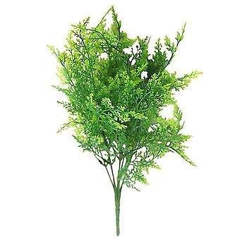 7 Fork Water Grass Eucalyptus Plastic - Artificial, Green Plant