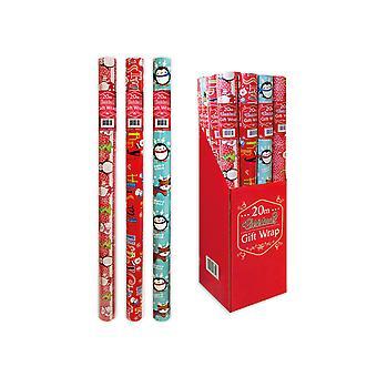 RSW International Xmas Wrapping Paper 20m      (12) XM2715