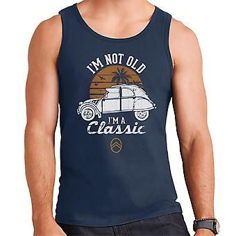 Citro?n 2CV White I'm Not Old Classic Sunset Men's Vest