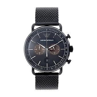 Armani Ar11142 Musta ioni päällystetty Men's Chronograph Watch
