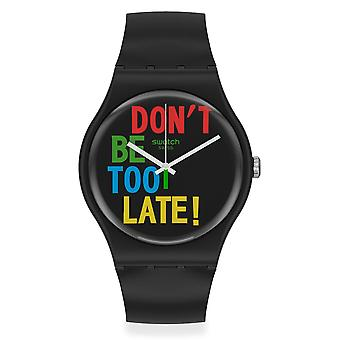 Swatch SO29B100 TIMEFORTIME Black Silicone Watch