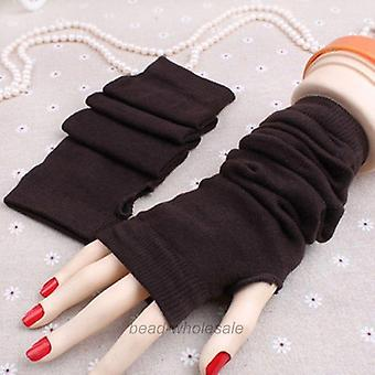 Women Winter Wrist Arm Hand Warmer Knitted Long Fingerless Gloves