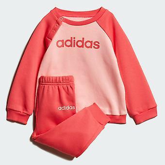 Adidas Infant Girls Linear Fleece Tracksuit Full Set FM6574