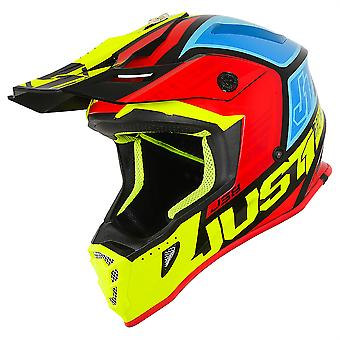 Just 1 J38 Blade MX Full Face Off Road Helmet Yellow Red Blue ACU Approved