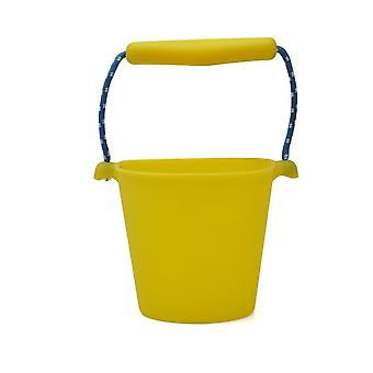 Children Silicone Folding Hand Bucket For- Bath Sand Play