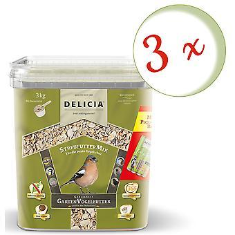 Sparset: 3 x FRUNOL DELICIA® Delicia® rozsiewacz, 3 kg