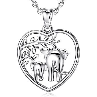 Silver Elephant Necklaces for Women, Aeonslove 925 Sterling Silver