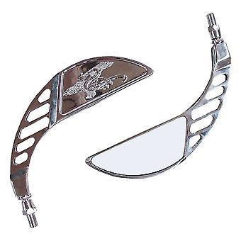 Universal Motorrad Custom Chrome Spiegel Paar hohe Qualität