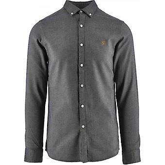 Farah Navy Hurst Twill Shirt