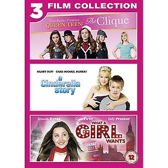 Cinderella Story/ The Clique/What a Girl Wants Triple Pack [DVD]