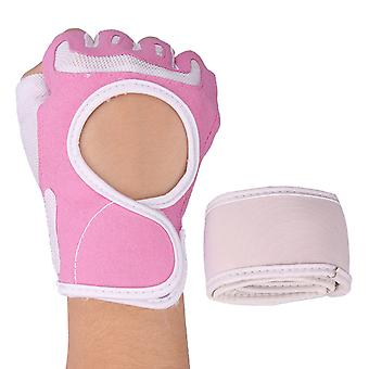 Half finger wrist guard Pink