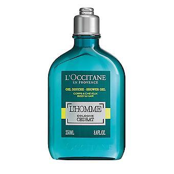 L Occitane L Homme Köln Cedrat Shower Gel til krop og hår 250ml