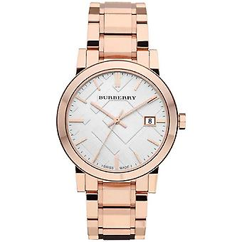 Burberry BU9004 White Check Pattern Dial Rose Gold-plated Women's Watch