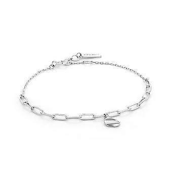 Ania Haie Sterling Silver Rhodium Plated Crush Drop Disc Bracelet B017-01H