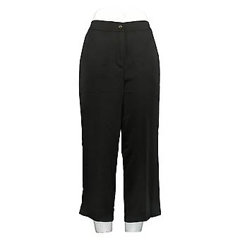 Linea de Louis Dell'Olio Women's Petite Pants Zip-Front Crop Black A349648