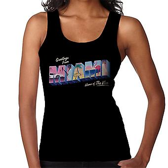 Miami Vice Greetings From Miami Home Of The Vice Women's Vest