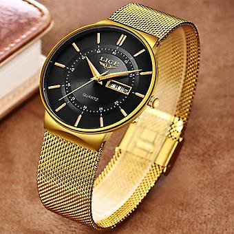 Lige Quartz Movement Men - Anologue Luxury Watch for Men Gold