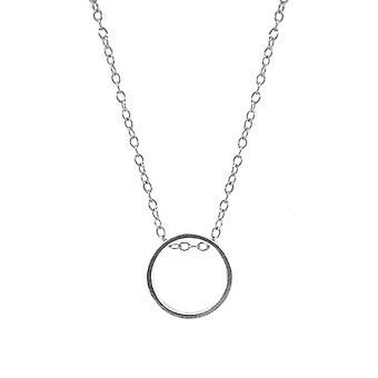 ANCHOR & CREW Abbott Runde Mini geometrische Silber Halskette Anhänger