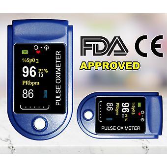 Pulso de la punta del dedo oxímetro oxígeno sangre Spo2 monitor batería incluida
