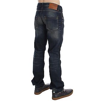 Acht Blue Wash Straight Fit Low Waist Jeans