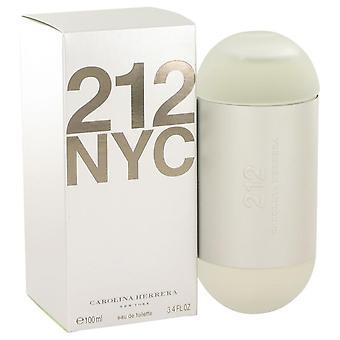 212 Eau De Toilette Spray (uutta pakkausta) mennessä Carolina Herrera 3,4 oz Eau De Toilette Spray
