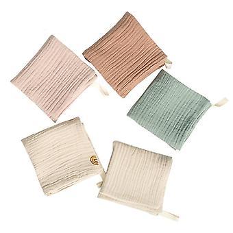 Baby Face Cloth Bath Towel Handkerchief Cotton Burp Soft Absorbent Gauze (see