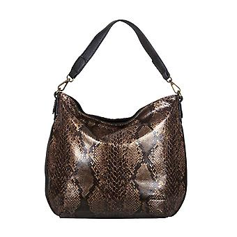 Bulaggi Protea Snake Print Hobo Shoulder Bag Size 25x28x10cm - Camel