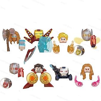 8pcs/set Doctor Strange Scarlet Witch Iron Man Assemble Building Blocks