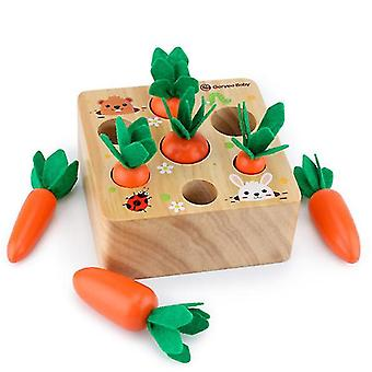 pull radish toy, children wooden building block toy educational toy, For Toddlers 1 To 3 Years Old