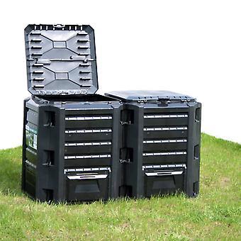 L Garden Composter Black 1200 L