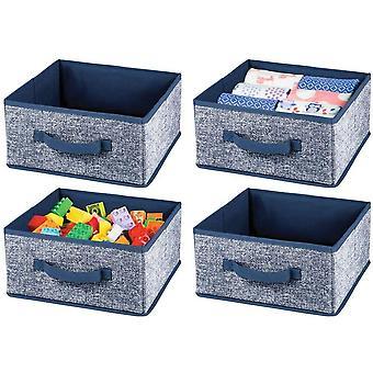 HanFei 4er-Set Aufbewahrungsbox aus Kunstfaser – fr Ordnung im Kleiderschrank –