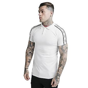 Sik Silk Ss-17454 Camiseta polo de cinta premium - Off White