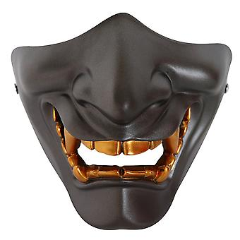 Halloween Prajna Masque Demi Visage Adulte Grimace Devil Resin Horror Tactical Mask