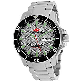 Seapro Scuba Dragon Diver Limited Edition 1000 Meters Quartz Silver Dial Men's Watch SP8312S