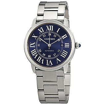 Cartier Ronde Solo Automatic Blue Dial Men's Watch WSRN0023