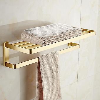 Laadukas messinkiharjattu kylpyhuonelaitteisto - paperiteline, pyyhe