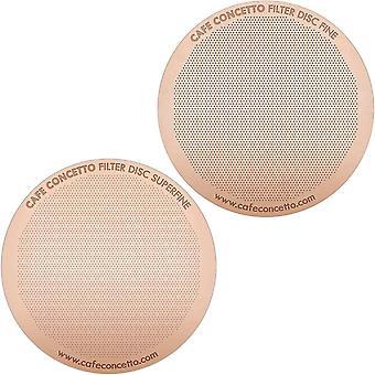 Gerui Filters for use in AeroPress Coffee Makers - Disc Fine  amp; Superfine - Reusable - Premium