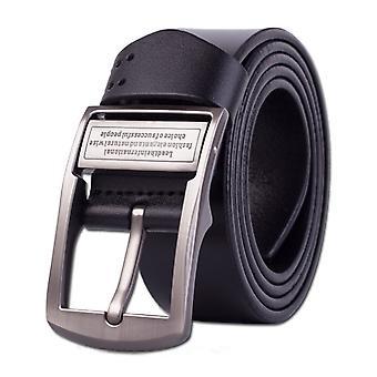 Pánské špendlíkové kožené opasek Pure Kožené kalhoty Pás, Délka pásu: 115cm (černá)