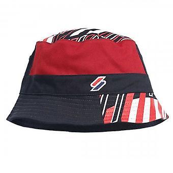 Superdry Reversible Sportstyle AOP Bucket Hat Navy OIZ