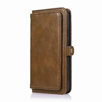 Multifunctional leather wallet case for Samsung Galaxy A31 - Brown