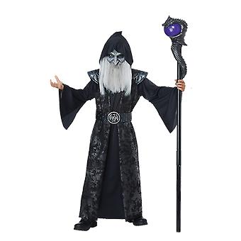 Boys Age 8 - 14 Years Dark Wizard Halloween Fancy Dress Costume