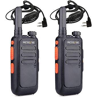 HanFei RT669 Mini Walkie Talkie, PMR446 Professionelles Radio mit Headset, Wiederaufladbares