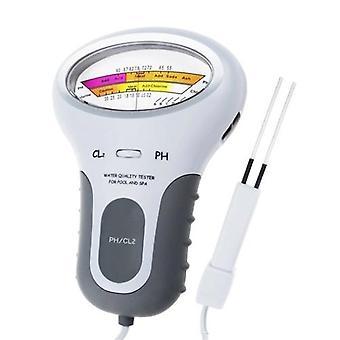 2 في 1 PH الكلور متر اختبار PC-102 PH اختبار الكلور جودة المياه اختبار الجهاز CL2 قياس لحمام السباحة حوض السمك
