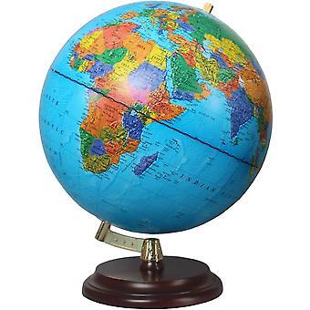Magellan Vasa Globus mit politischem Kartenbild oder handkaschiert, freistehend ohne Meridian