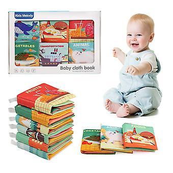 FengChun Stoffbuch fr Baby, Babys ersteTuch Bcher Nicht toxische Soft Stoff Bunte Bilderbuch