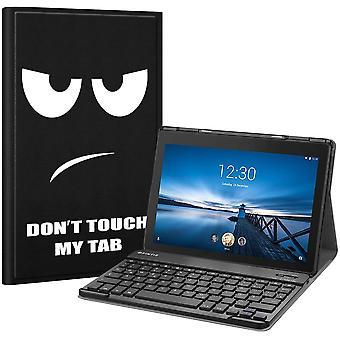 FengChun Tastatur Hülle für Lenovo Tab E10 TB-X104F 10,1 Zoll Tablet 2019 - Ultradünn Ständer